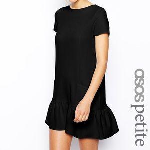 ASOS petite mini black dress